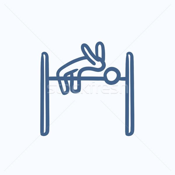 高跳び スケッチ アイコン ベクトル 孤立した 手描き ストックフォト © RAStudio