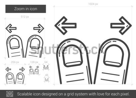 Drag wire line icon. Stock photo © RAStudio