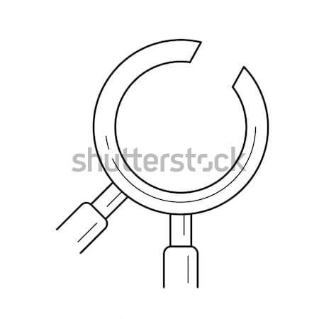 стоматологических эскиз икона вектора изолированный рисованной Сток-фото © RAStudio
