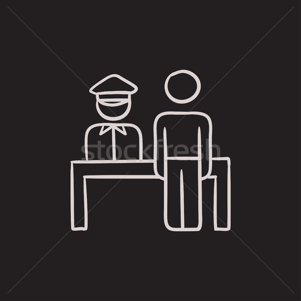 Airport security  sketch icon. Stock photo © RAStudio