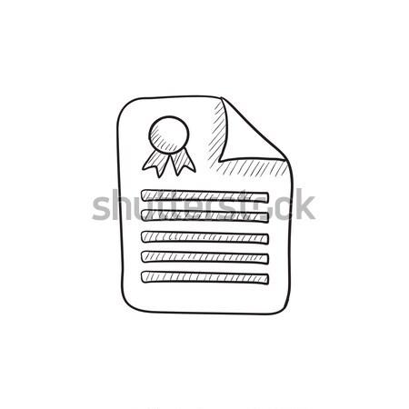 Real estate contract sketch icon. Stock photo © RAStudio