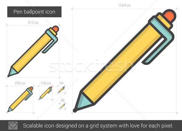 Pen ballpoint line icon. Stock photo © RAStudio