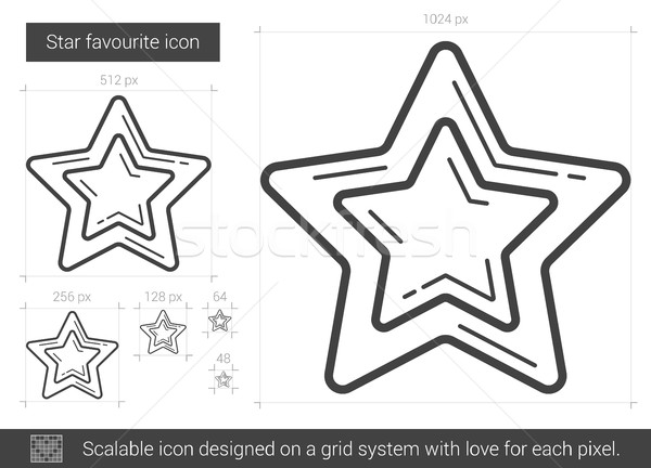 Star favori ligne icône vecteur isolé Photo stock © RAStudio