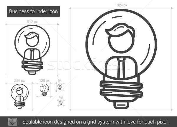 Business founder line icon. Stock photo © RAStudio
