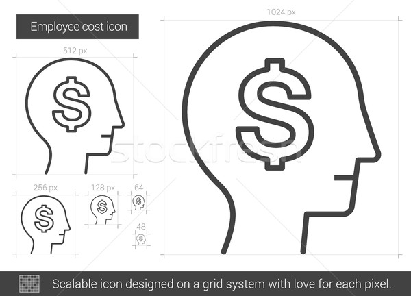 Employee cost line icon. Stock photo © RAStudio