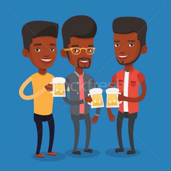 Grup arkadaşlar bira birahane erkekler Stok fotoğraf © RAStudio