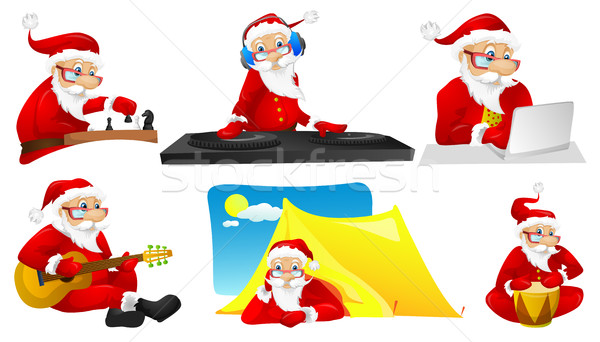 Vector set for christmas with Santa Claus. Stock photo © RAStudio