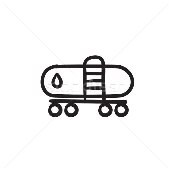 Olio serbatoio sketch icona vettore isolato Foto d'archivio © RAStudio