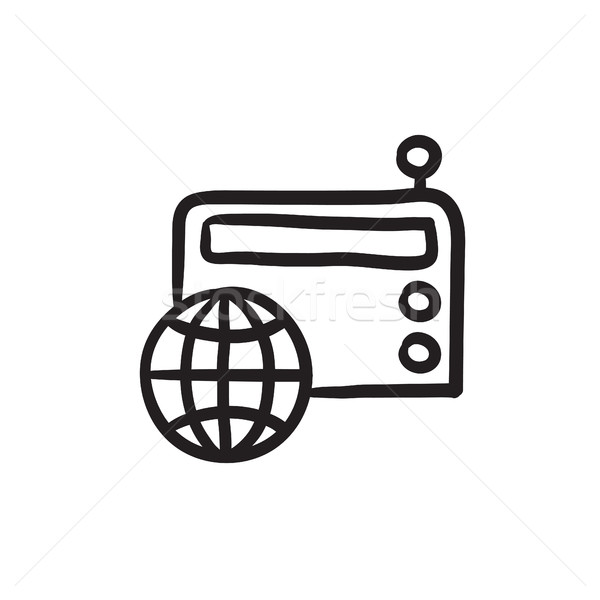 Retro radio sketch icon. Stock photo © RAStudio