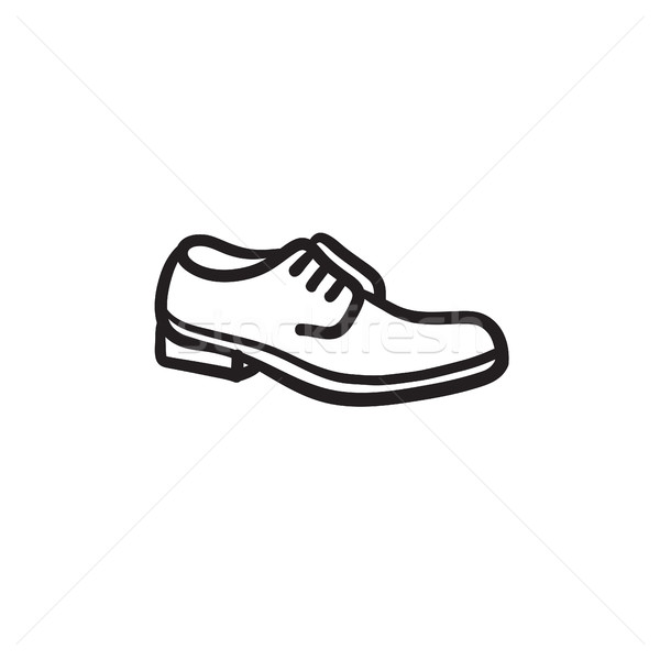 Shoe with shoelaces sketch icon. Stock photo © RAStudio