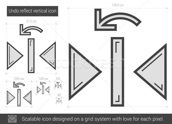 Undo reflect vertical line icon. Stock photo © RAStudio