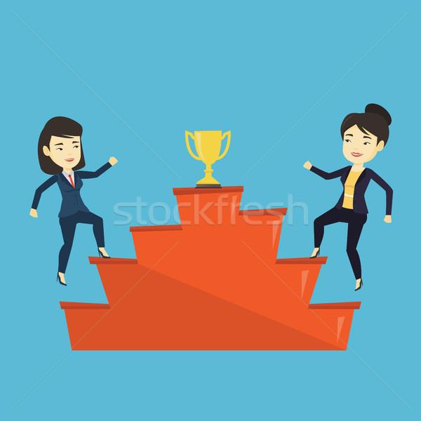 Women competing for the business award. Stock photo © RAStudio
