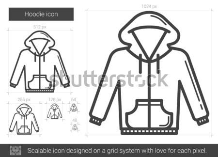 Hoodie line icon. Stock photo © RAStudio