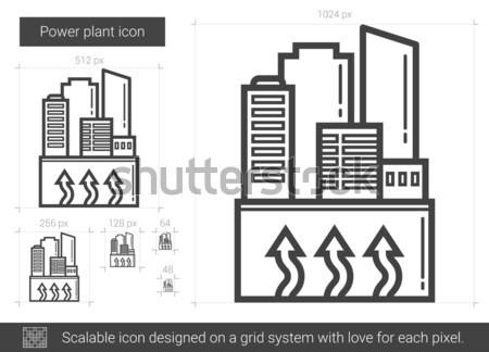 Energiecentrale lijn icon vector geïsoleerd witte Stockfoto © RAStudio