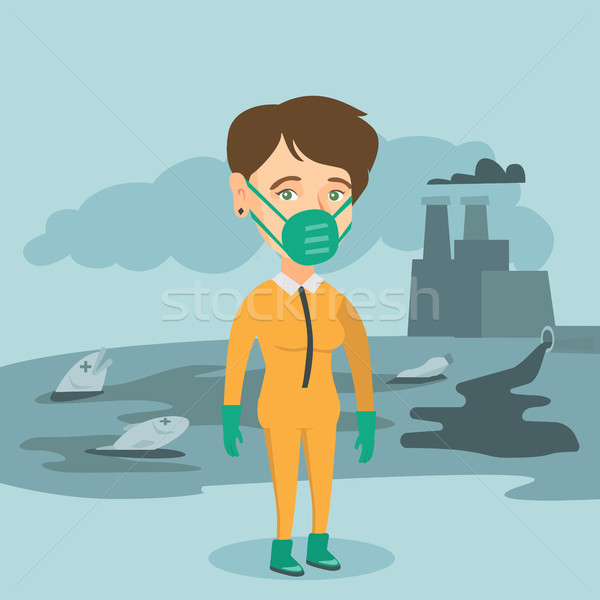 Scientist wearing radiation protection suit. Stock photo © RAStudio