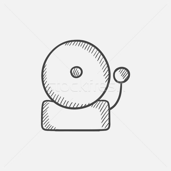 Tűzjelző rajz ikon háló mobil infografika Stock fotó © RAStudio