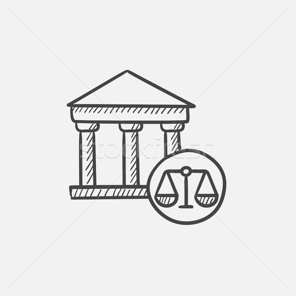 Court sketch icon. Stock photo © RAStudio