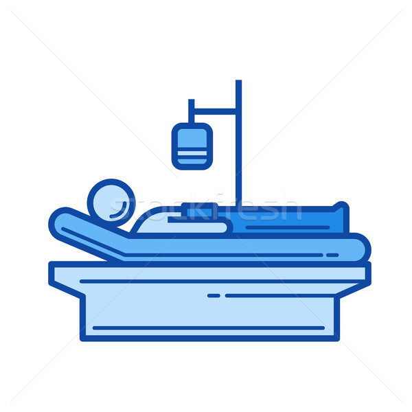 Patient ligne icône vecteur isolé blanche Photo stock © RAStudio
