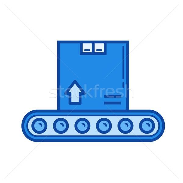 Packaging box line icon. Stock photo © RAStudio