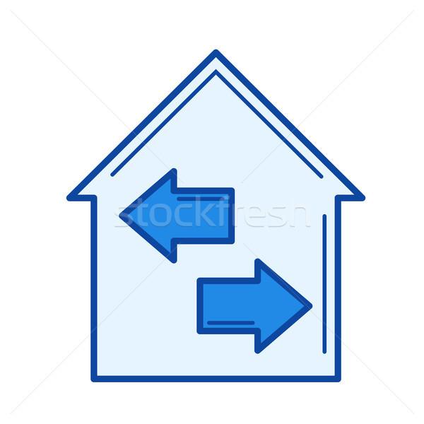 Casa isolamento linha ícone vetor isolado Foto stock © RAStudio
