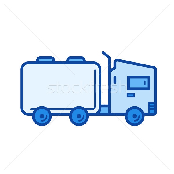 Tank truck line icon. Stock photo © RAStudio