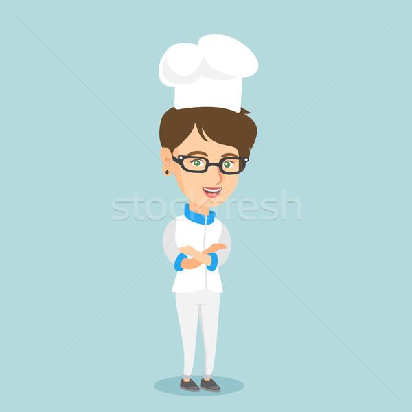 Femminile capo cuoco braccia incrociate Foto d'archivio © RAStudio