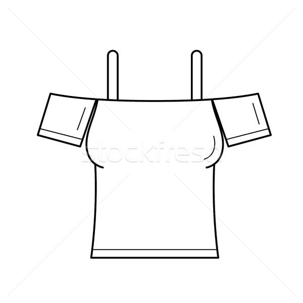 Sleeveless blouse vector line icon. Stock photo © RAStudio