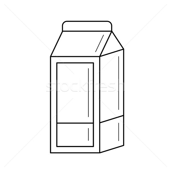 Carton box of milk vector line icon. Stock photo © RAStudio