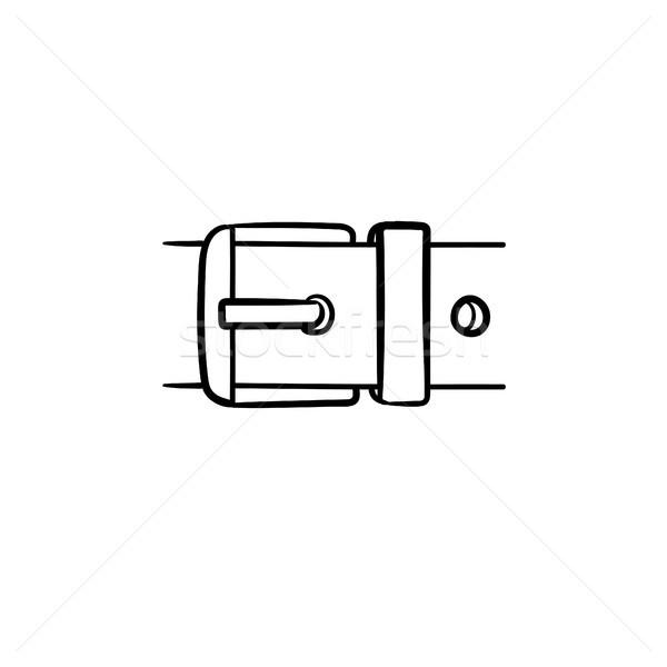 Belt buckle hand drawn sketch icon. Stock photo © RAStudio
