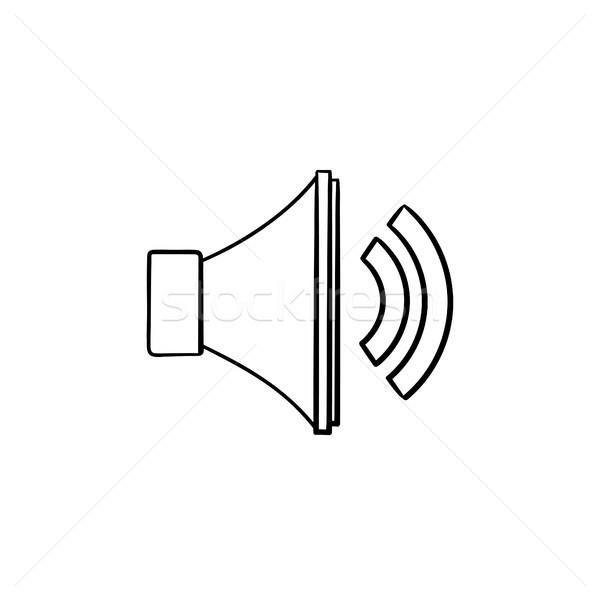 Volume control hand drawn outline doodle icon. Stock photo © RAStudio