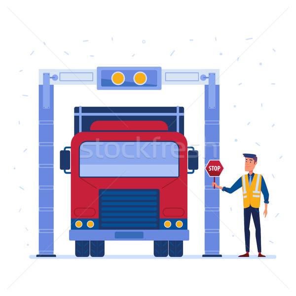 Camion carico scanner moderno Xray Foto d'archivio © RAStudio