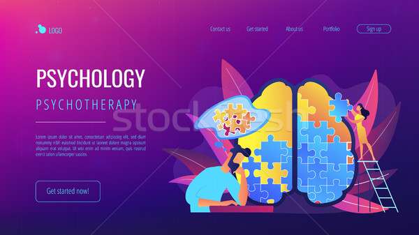 Psychotherapy and psychology landing page. Stock photo © RAStudio