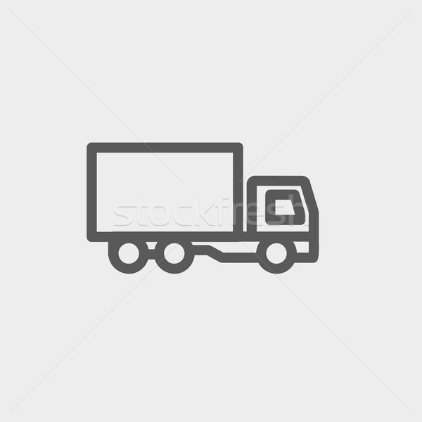 Teslim kamyon ince hat ikon web hareketli Stok fotoğraf © RAStudio