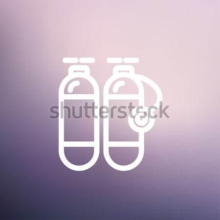 Oxigênio tanque fino linha ícone teia Foto stock © RAStudio