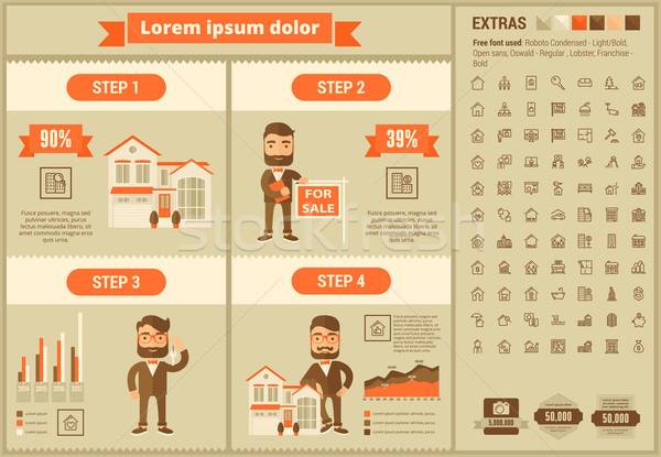 Real Estate flat design Infographic Template Stock photo © RAStudio