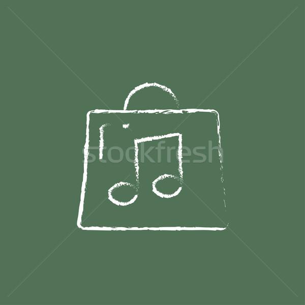 Stok fotoğraf: çanta · müzik · dikkat · ikon · tebeşir