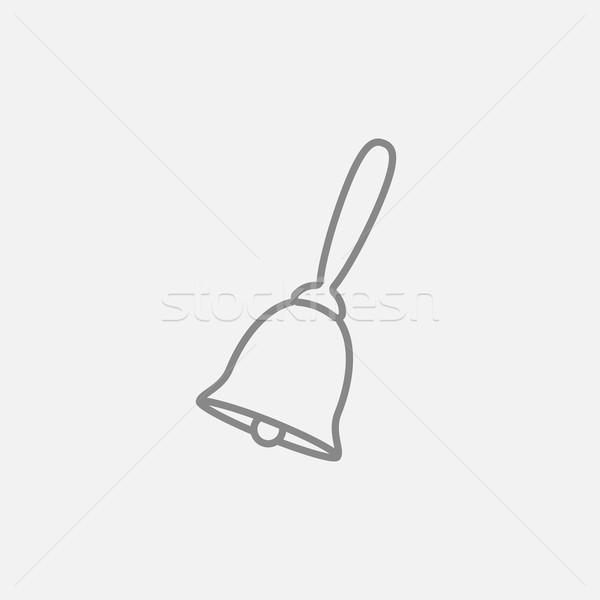 Schule Glocke line Symbol Web mobile Stock foto © RAStudio