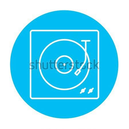 Turntable line icon. Stock photo © RAStudio