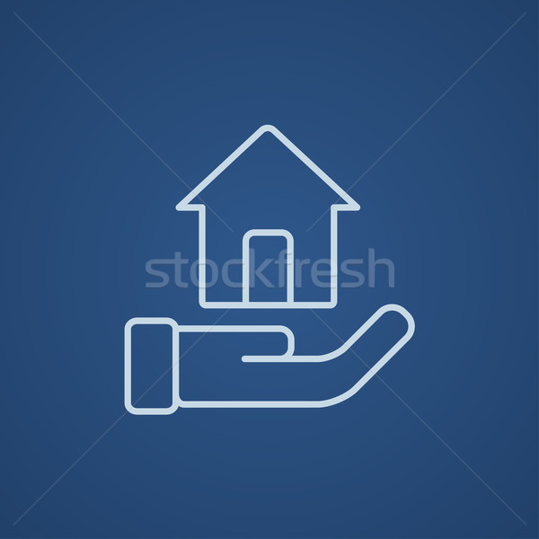 House insurance line icon. Stock photo © RAStudio
