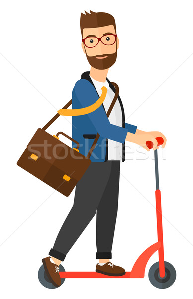 Homem equitação pasta trabalhar vetor Foto stock © RAStudio
