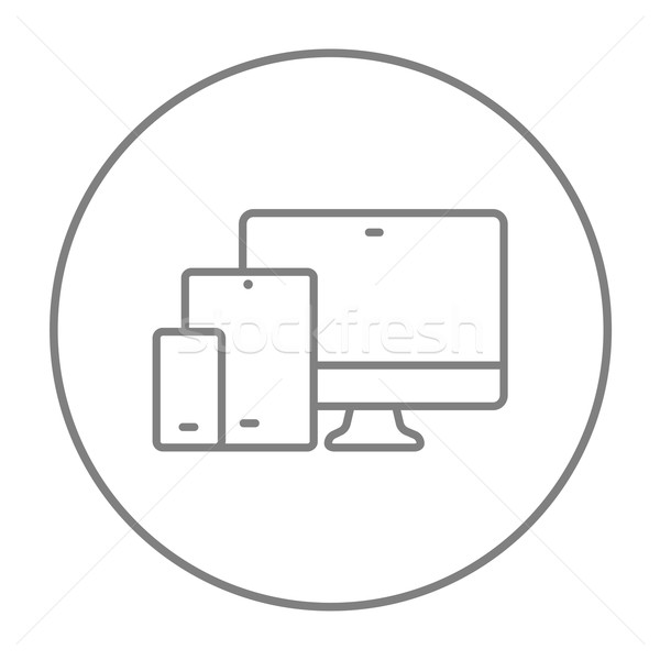 Responsive web design line icon. Stock photo © RAStudio