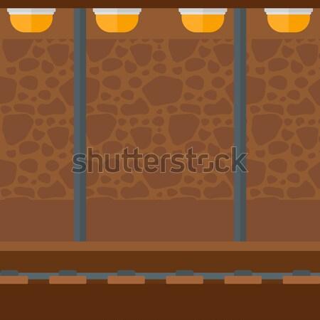 Metrô túnel vetor projeto ilustração vertical Foto stock © RAStudio