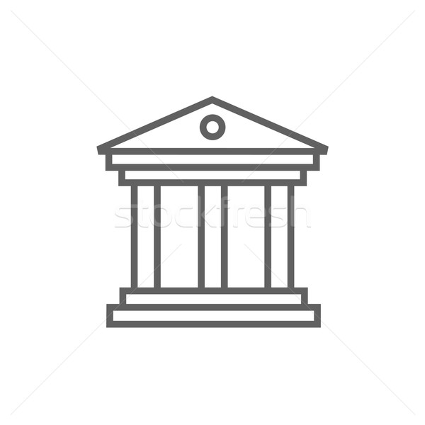 Múzeum vonal ikon sarkok háló mobil Stock fotó © RAStudio