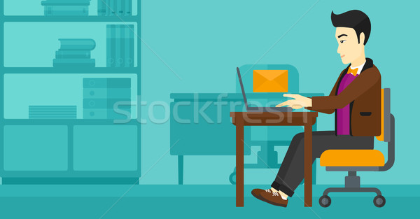 Man receiving email. Stock photo © RAStudio