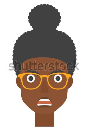 Scared woman with open mouth. Stock photo © RAStudio