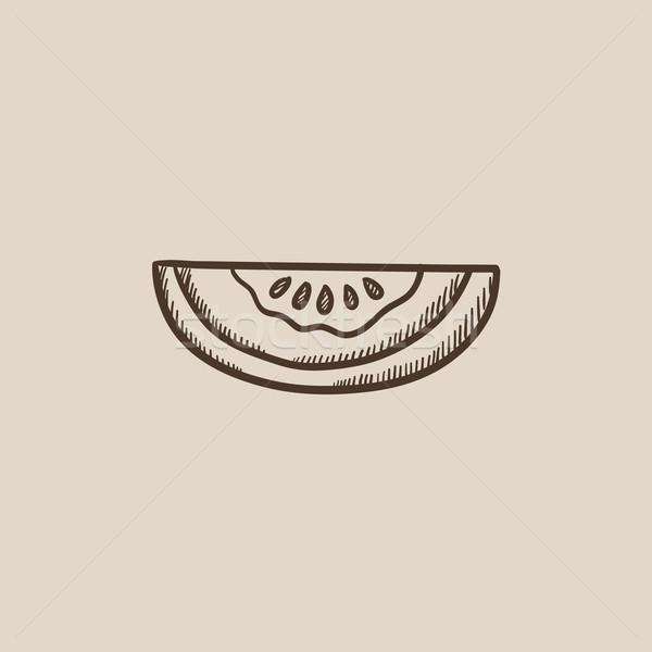 Melone sketch icona web mobile infografica Foto d'archivio © RAStudio