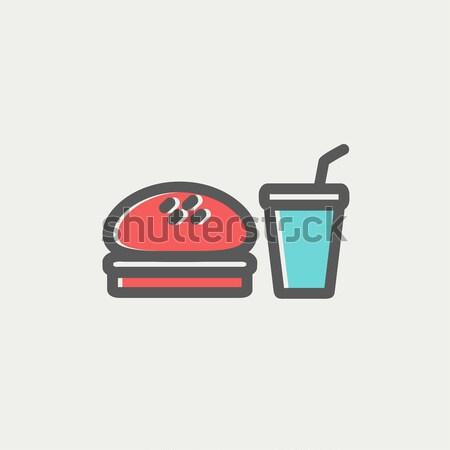 Fast food meal line icon. Stock photo © RAStudio
