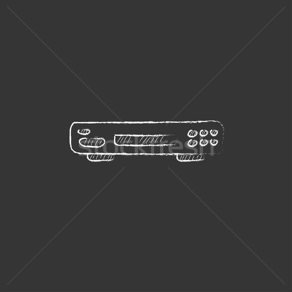 Video recorder. Drawn in chalk icon. Stock photo © RAStudio