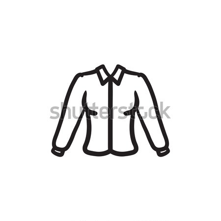 Femenino blusa boceto icono vector aislado Foto stock © RAStudio