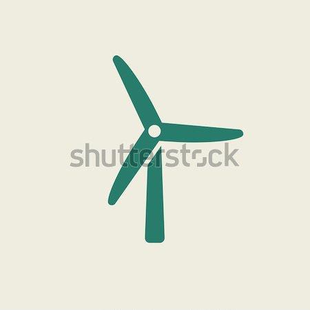 Wiatrak szkic ikona wektora odizolowany Zdjęcia stock © RAStudio
